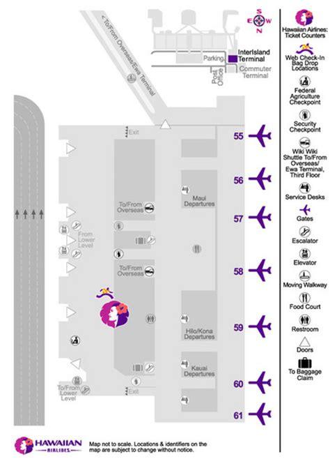 honolulu airport terminal map hawaiian airlines honolulu airport map honolulu airport