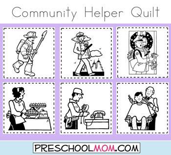preschool coloring pages community helpers community helper preschool printables