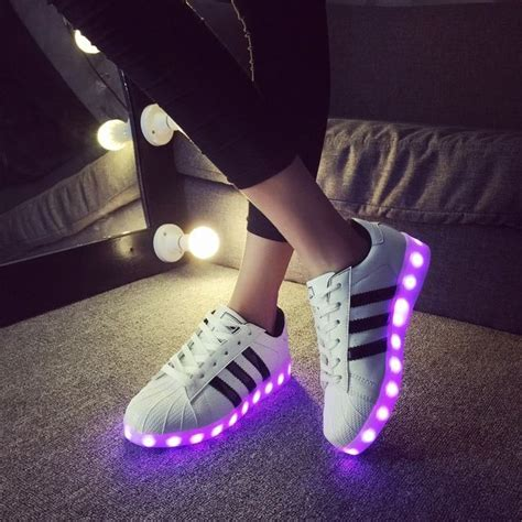 Adidas Fashion Led led luminous shoes for adults menwomen chaussure lumineuse light shoes casual luminous shoes usb