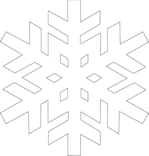 easy snowflake template 16 best snowflake templates images on