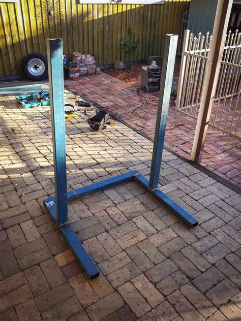 home made bench press first post home made aussie squat rack bodybuilding com