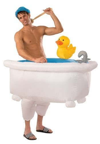 man in bathtub adult inflatable man in tub costume