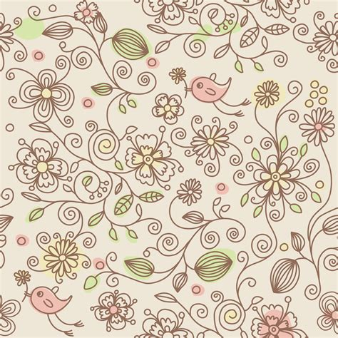 wallpaper batik tumblr 壁紙 背景イラスト 花の模様 柄 パターン no 172 花を運ぶ鳥 ピンク