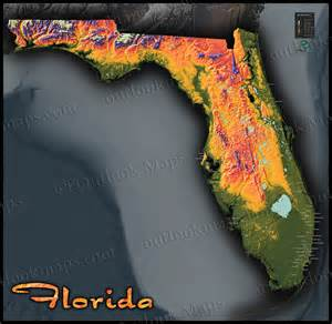elevation map of florida florida topography map colorful physical landscape