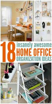 Office Space Organization Ideas 18 Insanely Awesome Home Office Organization Ideas