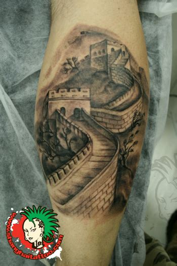 china pattern tattoo great wall of china tattoo design pictures to pin on