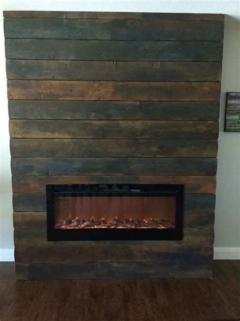 Tongue And Groove Fireplace reclaimed wood look for fireplace used new tongue and