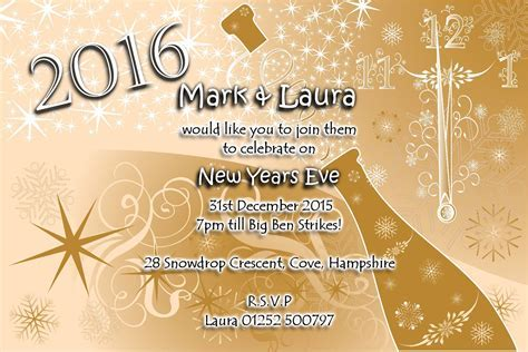 Wedding invitation card order single page diy email wedding 10 personalised new years eve party invitations no2 stopboris Choice Image