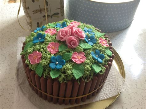 Flower Garden Cakes How To Make A Garden Cake Home Project