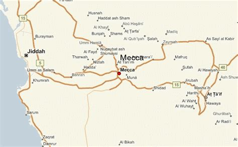 mecca on a map mecca location guide