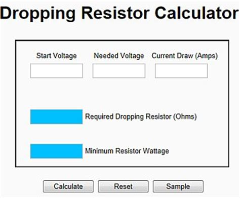 resistor value and ratio calculator automotive calculators gtsparkplugs