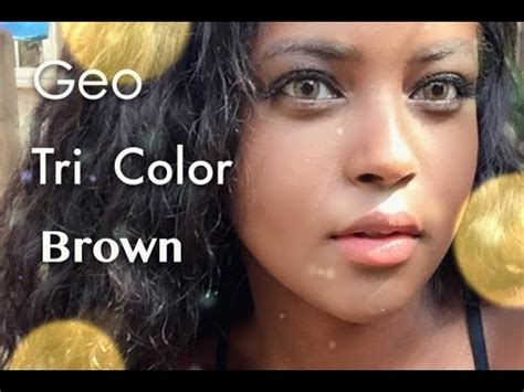 geo tri color brown geo tri color brown cricle lens review