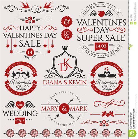 love wedding design elements vector valentine s day and wedding design elements stock vector