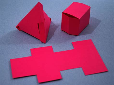 Fold A Box Out Of Paper - fold a tetrahedron and box from the same net