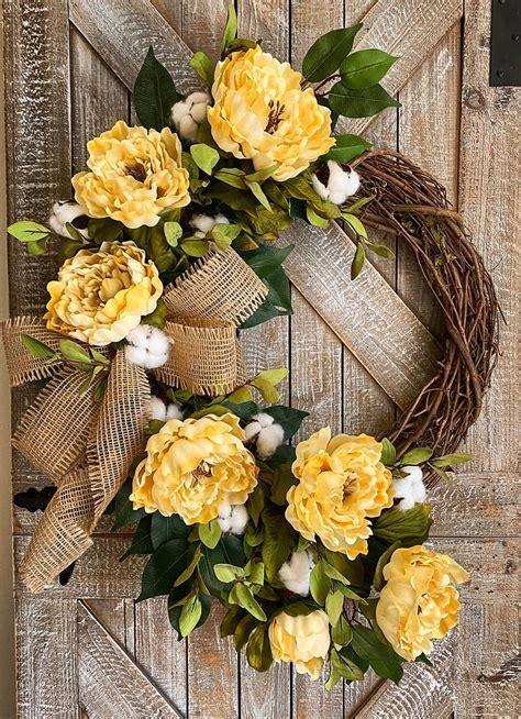 spring wreath  front door everyday wreath year