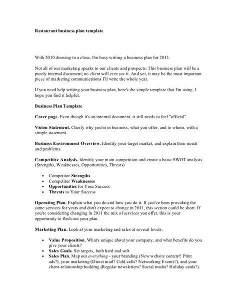 Restaurant Business Plan Template Pizza Business Plan Template