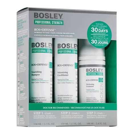 bosley pro bosrevive 30 day kit hsn defense 30 day starter pack for non color treated hair