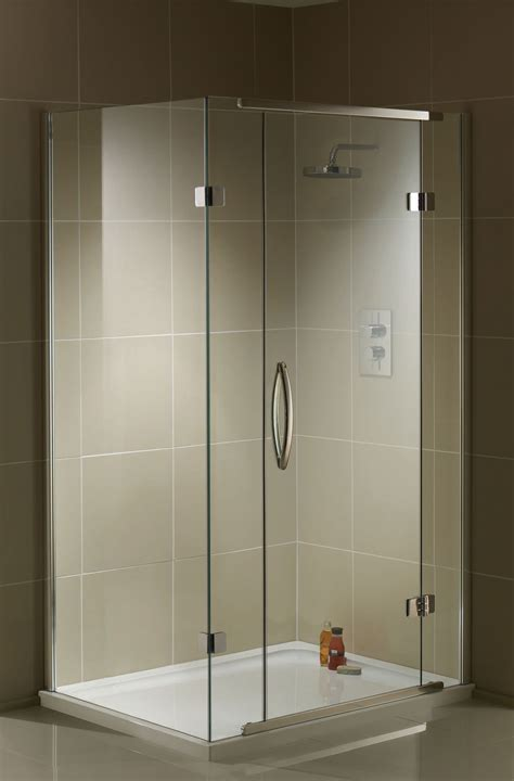 1200 Shower Door Aquadart Inline 2 Sided Hinged Door Shower Enclosure 1200 X 800mm
