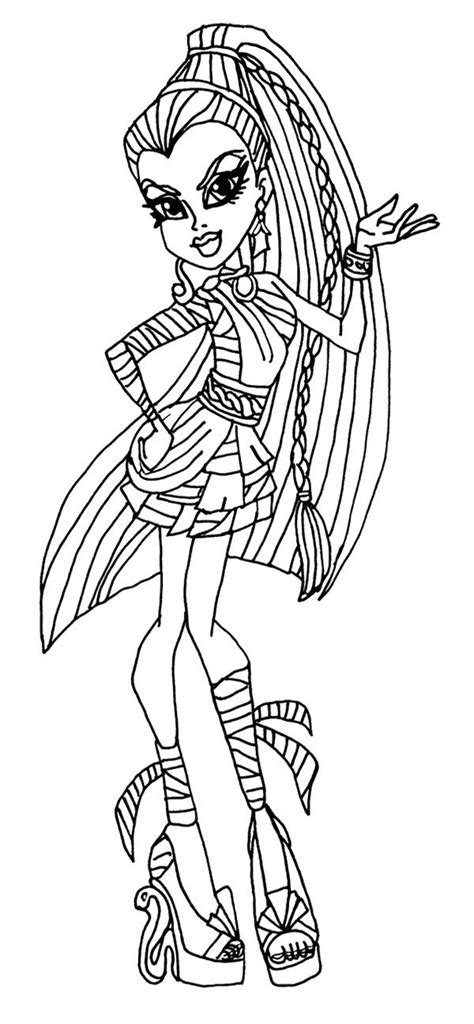 monster high coloring pages nefera de nile pin by finley kimmie on monster high coloring page pinterest
