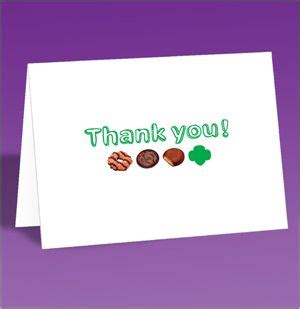 scout thank you cards template gsusa free cookie thank you card diy appreciation