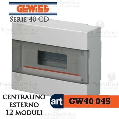 armadio elettrico gewiss gewiss gw40045 centralino esterno con portello 12 moduli