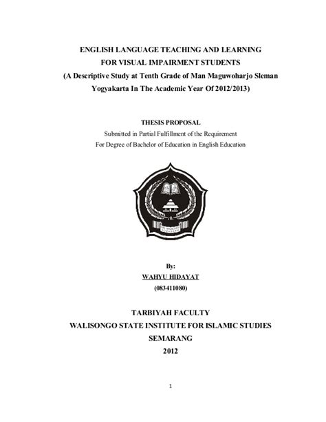 aturan dalam membuat judul skripsi proposal skripsi kualitatif deskriptif
