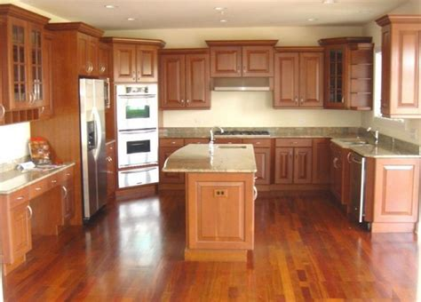 kitchens with cherry cabinets and wood floors 24 spaces