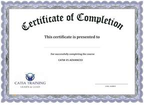 sample course completion certificate template best