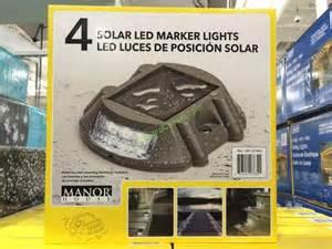 manor house 4 solar led marker lights costcochaser