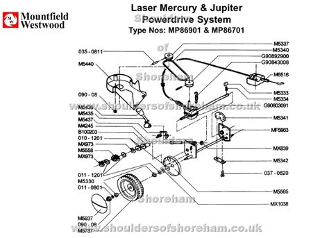 Sparepart Jupiter mp86901 mp86701 mountfield laser mercury 42 jupiter 46