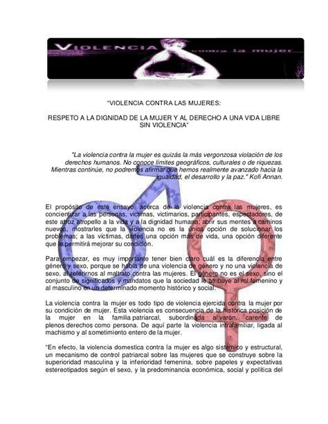 ejemplo donde no se respete la dignidad de la persona violencia contra las mujeres respeto a la dignidad de la
