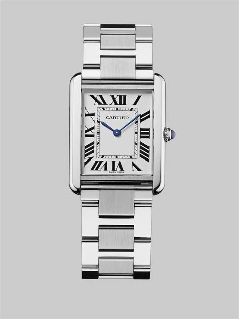 Cartier Tank Solo Stainless Steel Watch On Bracelet in Metallic   Lyst