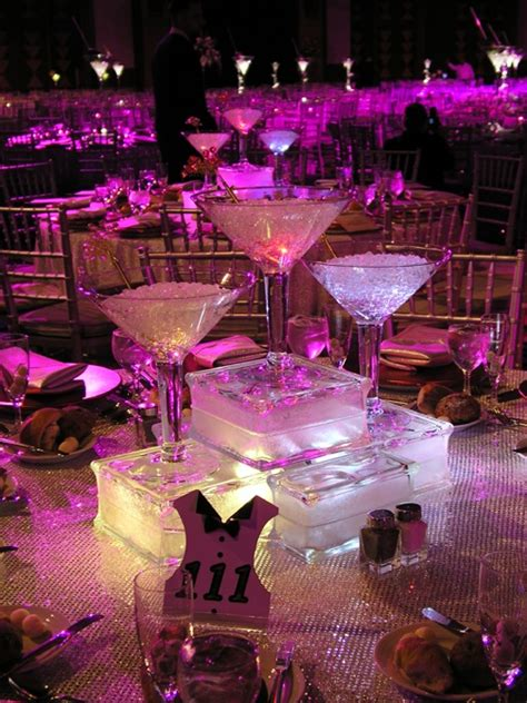 martini glass centerpieces girly things pinterest