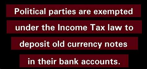 section 13a of income tax act political parties exempted from giving tax it department