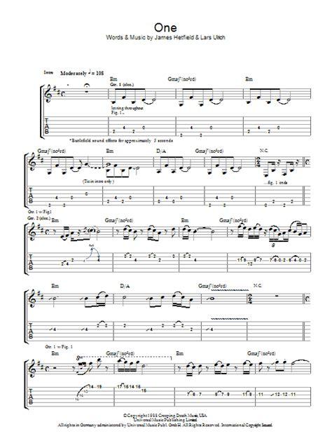 metallica one piano sheet music one sheet music direct