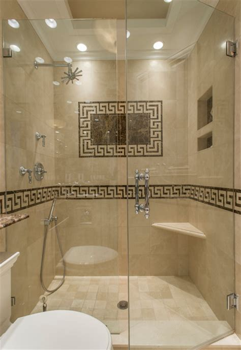 Home Decorators Lighting greek key marble bathroom traditional bathroom