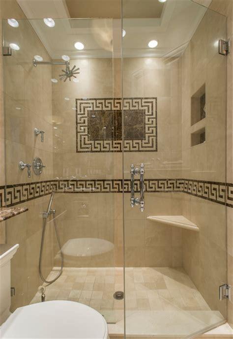 Greek key marble bathroom traditional bathroom boston by tassels home design boston ma