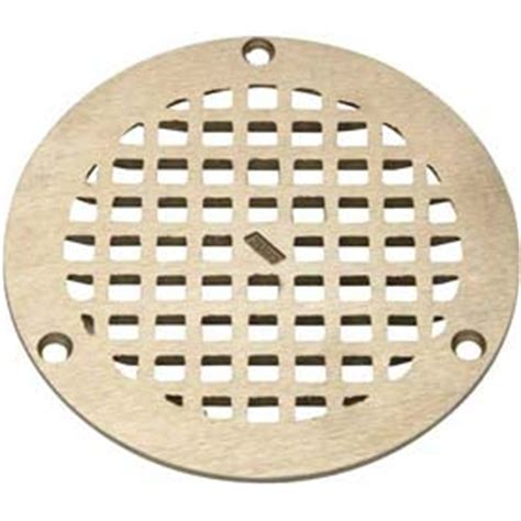 zurn floor drain cover drains traps floor drains zurn 10 quot dia floor drain w screws nickel b677509