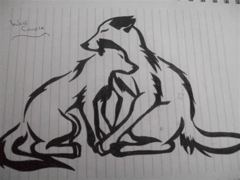 tattoo couple sketch cute tribal wolf couple by musicfortheeyes on deviantart