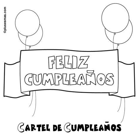 imagenes para colorear feliz cumpleaños colorear pancarta de feliz cumplea 241 os