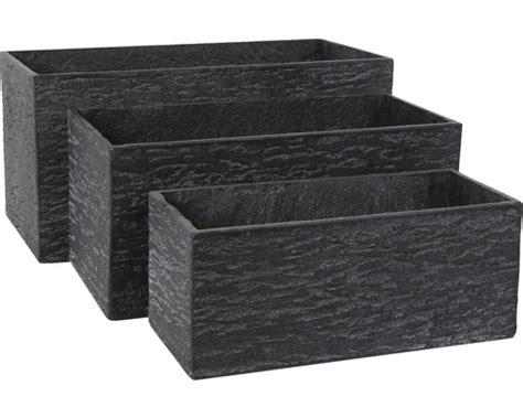 beton blumenkasten blumenkasten leichtbeton 55 x 23 x 23 cm schwarz jetzt