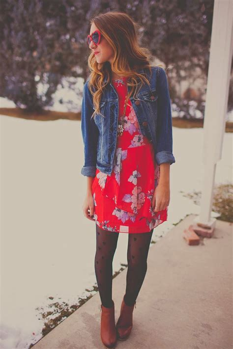 8 Ways To Wear Florals In Winter by 20 Style Tips On How To Wear Dresses In The Winter While