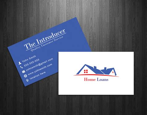 17 Home Loan Business Cards Modern Upmarket Graphic Design For David Marks By Stefan