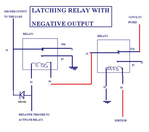 latching circuit diagram electrical schematic