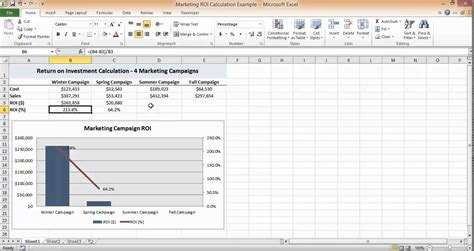 Roi Spreadsheet Exle by Roi Calculation In Excel