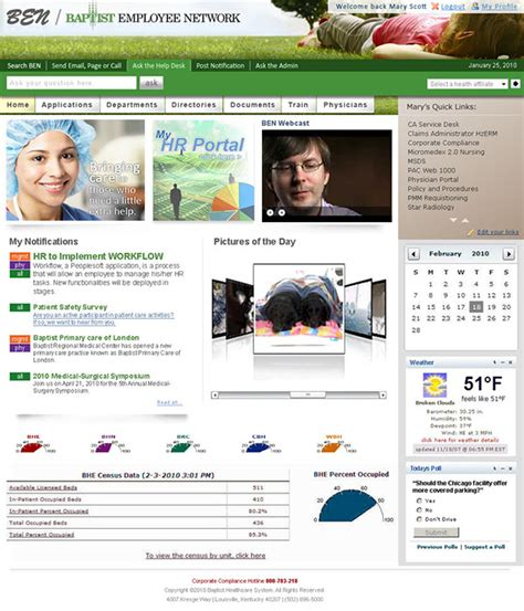 intranet portal design templates baptist employee network intranet portal on behance