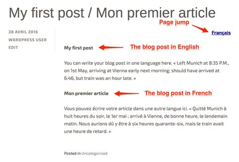blog the first blog last posts set up a multilingual site support wordpress com
