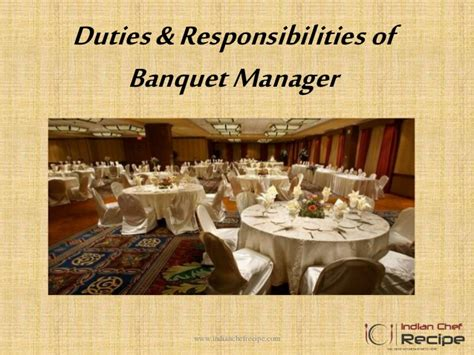 Banquet Manager by Duties And Responsibilities Of Banquet Manager