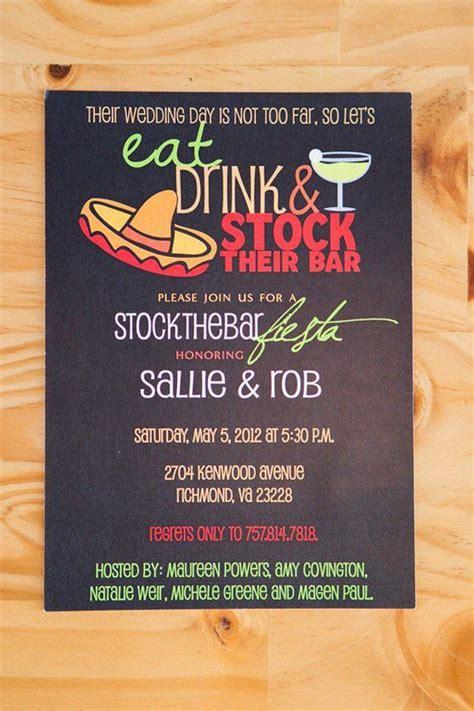 stock  bar party invitation wedding shower invitation