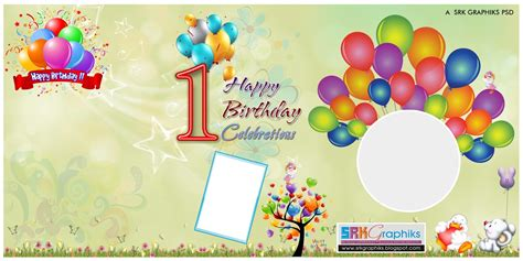 happy 1st birthday card template birthday banner design photoshop template for free srk